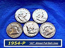 "Buy 1954-P Silver Franklin ⭐️ ""AU"" & Partial Bell Lines  ⭐️    (R 1159)"