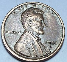 Buy 1920-D  EXTRA FINE  Lincoln Wheat Cent (144-T )