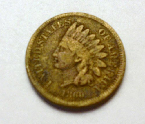 1860 INDIAN HEAD COIN