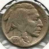 1936 US Buffalo Nickel VG