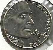 2005 D Jefferson Nickel