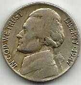 US Jefferson Nickel 1947 - G