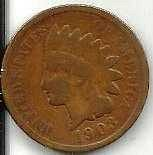 US Indian Head 1903 - G