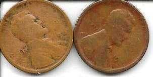 US Lincoln Wheat Cent 1919 S and 1919 D Two Coin Lot