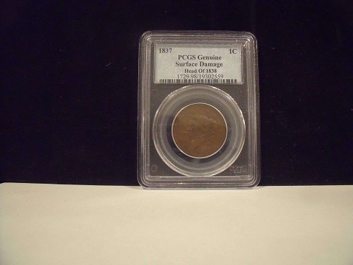 1837 Large Cent PCGS Certified