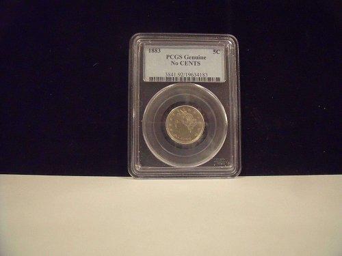 1883 No Cent Nickel PCGS Certified