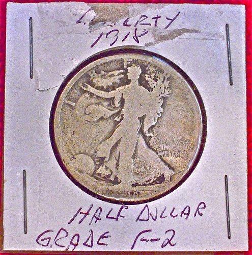 1918 Walking Liberty Halve Dollar