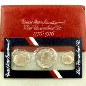 Silver Uncirculated Set United States Bicentennial 3 coin set