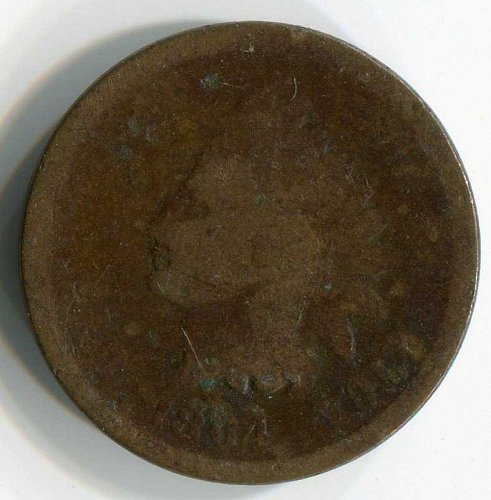 1864 P Indian Head Small Cent