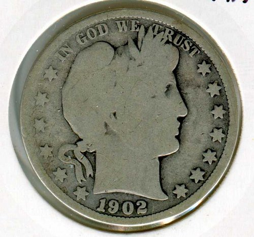 1902 O Barber Half Dollar