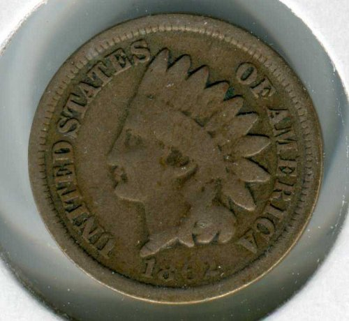 1862 P Indian Head Cent Small Cents