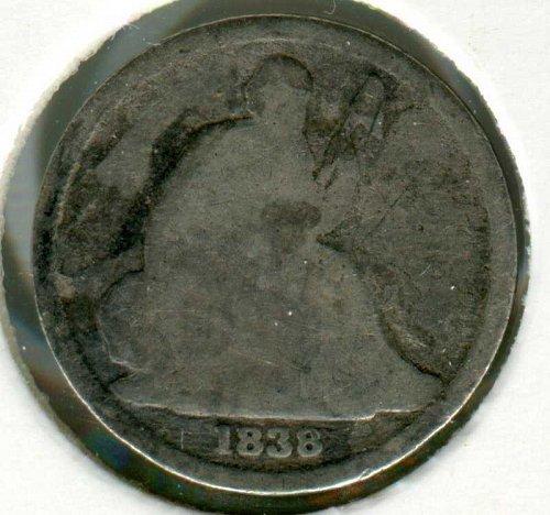 1838 O Seated Liberty Dime