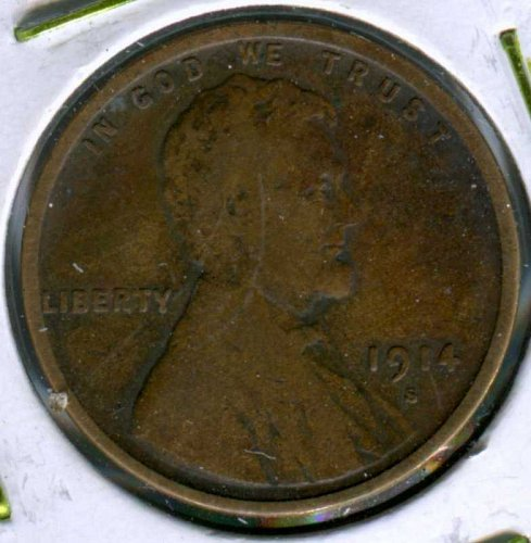 1914 S Lincoln Wheat Cent Small Cents
