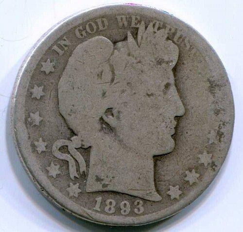 1893 O Barber Half Dollar
