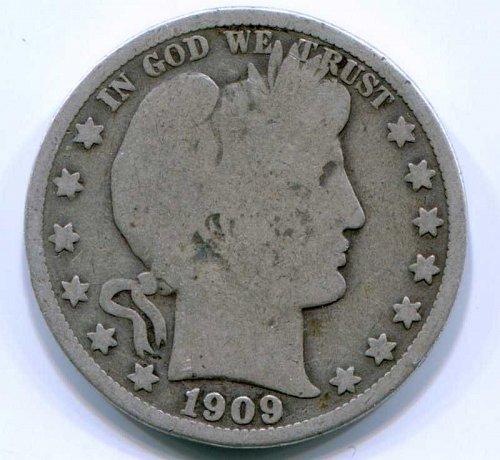 1909 P Barber Half Dollar