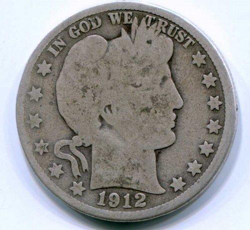 1912 D Barber Half Dollar