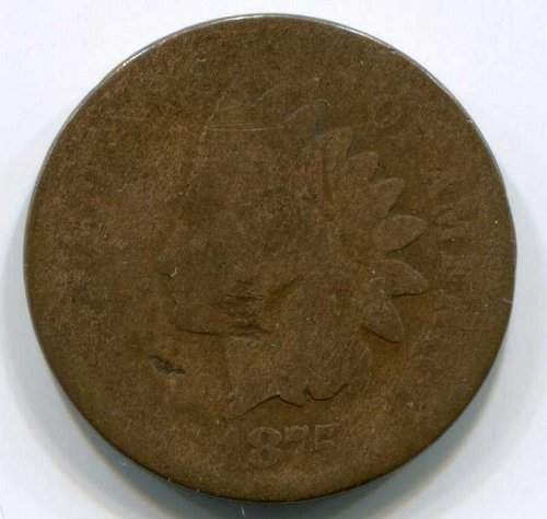 1875 P Indian Head Cent Small Cent