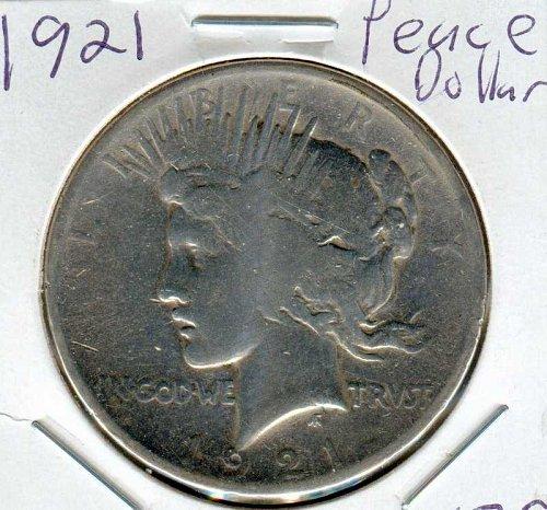 1921 P Peace Dollar