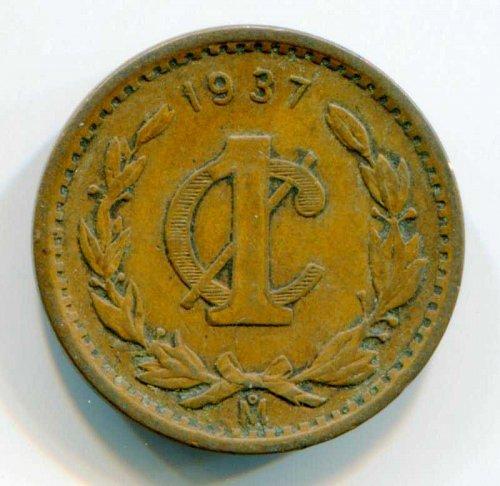 1937 Mexico 1 Centavo