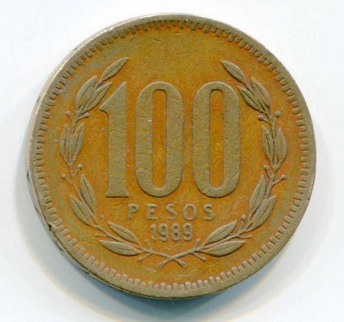 1989 SO Chile 100 Peso