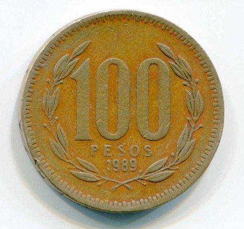 1989 SO Chile 100 Peso