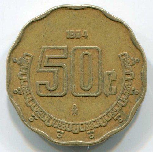 1994 Mexico 50c Centavos
