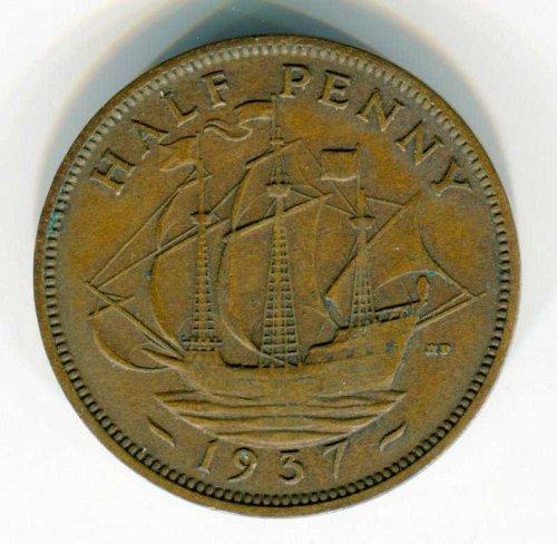 1937 English Halfpenny