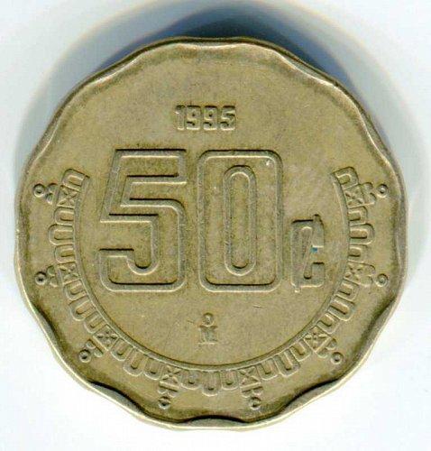 1995 Mexico 50 Centavos
