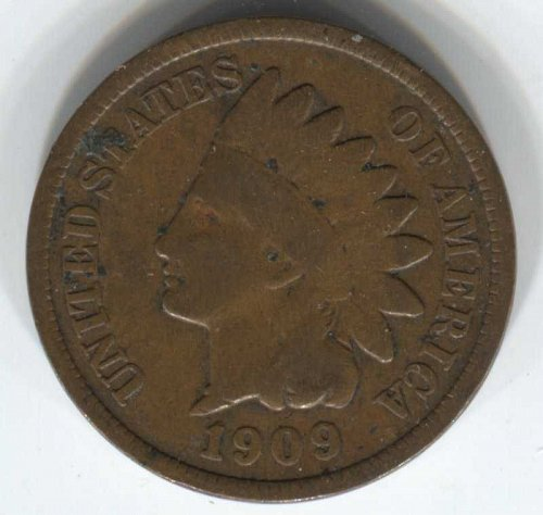 1909 P Indian Head Cent Small Cent