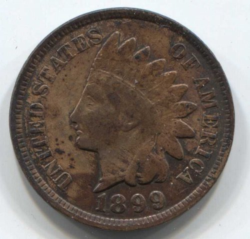 1899 P Indian Head Cent Small Cent