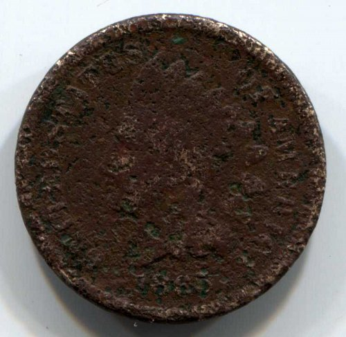 1865 P Indian Head Cent Small Cents