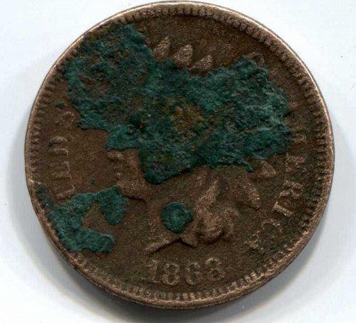 1868 P Indian Head Cent Small Cent