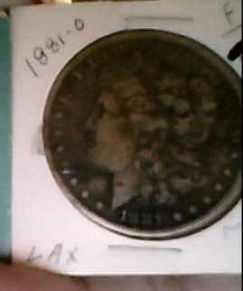 1881- O Morgan dollar coin