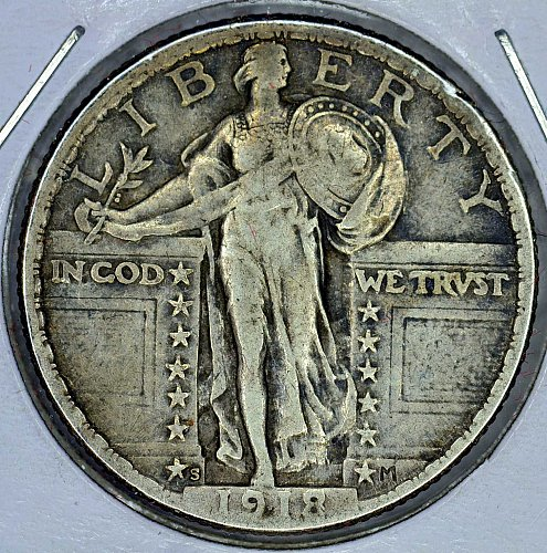 1918-S EF Standing Liberty Quarter (Good Cents)