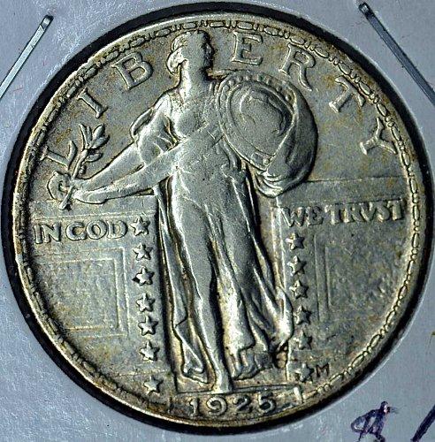 1925 EF-AU Standing Liberty Quarter (Good Cents)