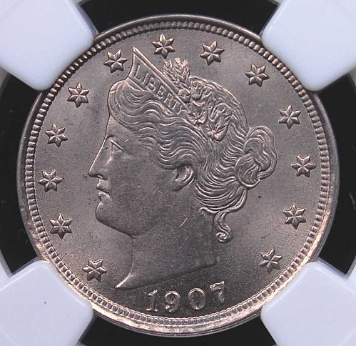 1907 LIBERTY NICKEL NGC MS63 HIGHLY LUSTROUS, EXCELLENT STRIKE, BRILLIANT