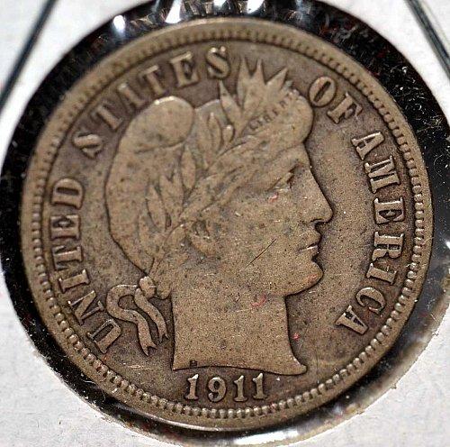 EF 1911 Barber Dime (Good Cents)