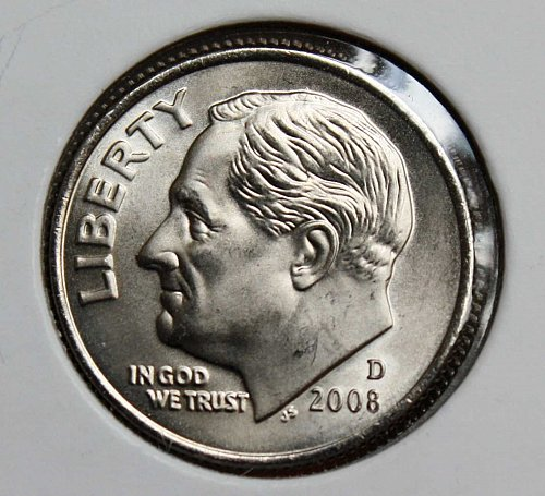 2008 D Uncirculated Roosevelt Dime