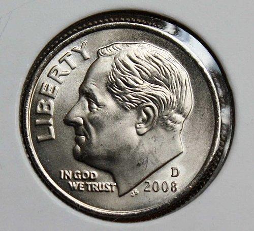 2008 D Uncirculated Roosevelt Dime