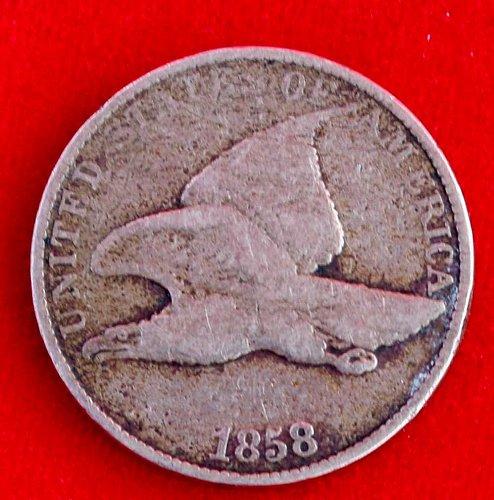 1858 Flying Eagle Cent - Large L