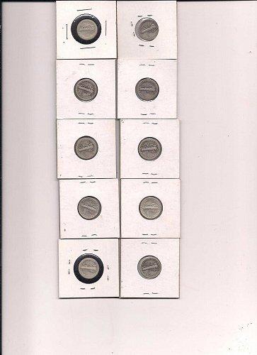 10 mercury dimes different dates 5.00 each