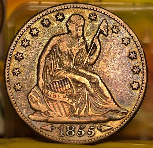 EF 1855-O Seated Liberty Half Dollar. Very Nice Original Coin. (Good Cents)