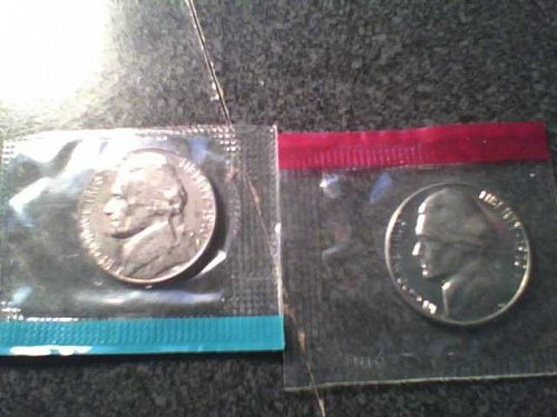 1970 P+D NICKEL SET UNCIRCULATED STILL IN MINT CELLO