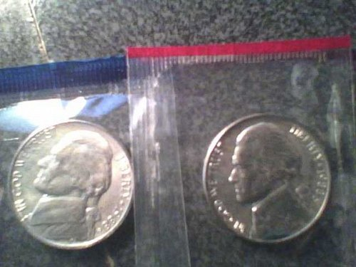 1988 P+D NICKEL SET UNCIRCULATED STILL IN MINT CELLO
