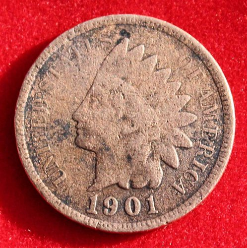1901 One Cent Indian Head