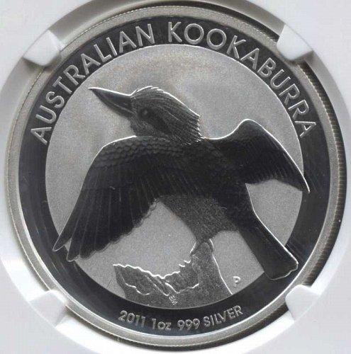 2011 P Australia $1 Kookaburra Proof 1oz. Pure Silver Round MS69 NGC Sealed