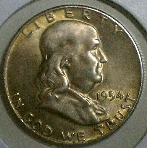 1954 Franklin Silver Half Dollar 90%