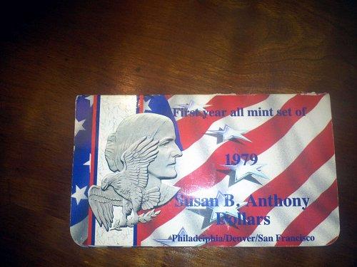1979 Susan B. Anthony first year mint set dollars