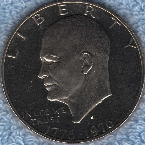 1776-1976-S Bi-Centennial Ike Dollar This is a Clad Proof Cameo coin-PR 66
