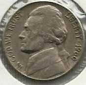 US Jefferson Nickel 1960-D